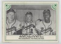 Red Schoendienst, Fred Haney, Hank Aaron [GoodtoVG‑EX]