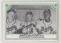 Red Schoendienst, Fred Haney, Hank Aaron