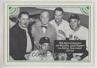 Joe McCarthy, Jacob Ruppert, Lou Gehrig, Tony Lazzeri, Joe DiMaggio