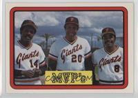 MVP's (Vida Blue, Frank Robinson, Joe Morgan)