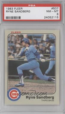 1983 Fleer - [Base] #507 - Ryne Sandberg [PSA8]