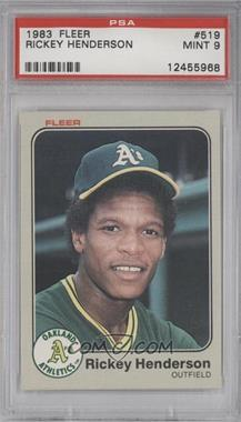 1983 Fleer - [Base] #519 - Rickey Henderson [PSA 9]