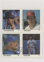 Floyd Bannister, Tom Seaver, Bob Horner, Jim Palmer
