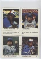Warren Cromartie, Don Sutton, Fernando Valenzuela, Willie Upshaw