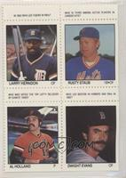 Larry Hendon, Rusty Staub, Al Holland, Dwight Evans