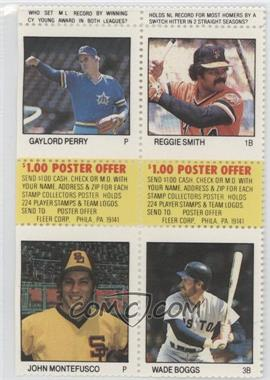 1983 Fleer Stamps Block Of Four Psmb Gaylord Perry