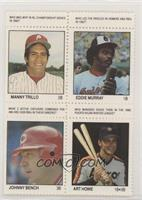 Manny Trillo, Eddie Murray, Johnny Bench, Art Howe