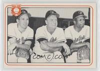 Brooks Robinson, Hank Bauer, Frank Robinson