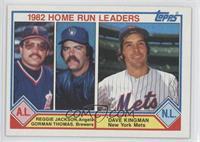 Reggie Jackson, Gorman Thomas, Dave Kingman