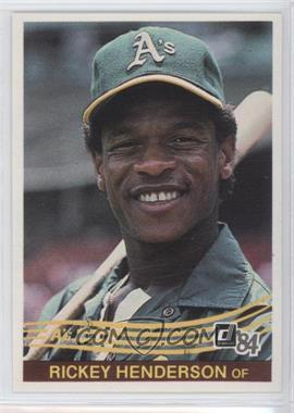 1984 Donruss - [Base] #54 - Rickey Henderson