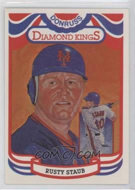 "1984 Donruss - [Base] #6.1 - Rusty Staub (""Perez-Steel"" on Back)"