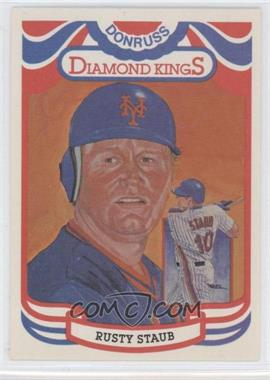 "1984 Donruss - [Base] #6.1 - Rusty Staub (""Perez-Steel"" on Back)"