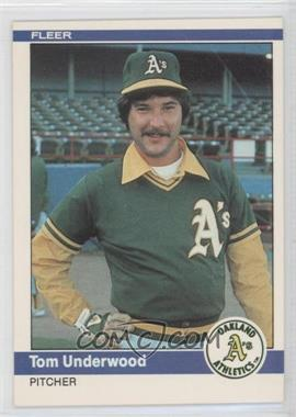 1984 Fleer - [Base] #460 - Tom Underwood