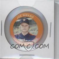 1984 Fun Foods Buttons - [Base] #128 - Joe Niekro - Courtesy of COMC.com