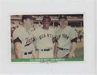 Harmon Killebrew, Willie Mays, Mickey Mantle