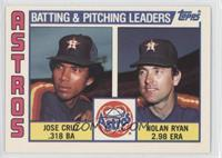 Astros Batting & Pitching Leaders (Jose Cruz, Nolan Ryan)