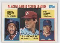 Career Leaders - NL Active Career Victory Leaders (Fergie Jenkins, Steve Carlto…