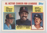 Career Leaders - AL Active Career RBL Leaders (Ted Simmons, Reggie Jackson, Gra…