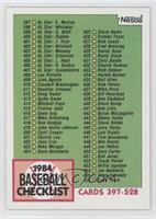 Cards 397-528 (Checklist)