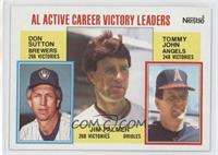 Career Leaders - AL Active Career Victory Leaders (Don Sutton, Tommy John, Jim …