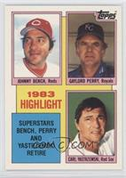 1983 Highlight - Carl Yastrzemski, Johnny Bench, Gaylord Perry