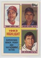 1983 Highlight - Carl Yastrzemski, Johnny Bench, Gaylord Perry