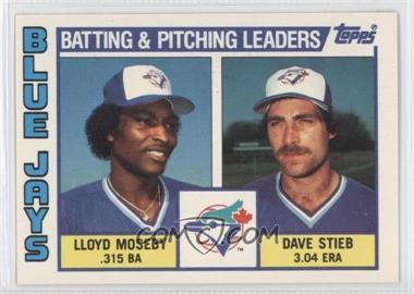 1984 Topps - [Base] - Tiffany #606 - Lloyd Moseby, Dave Stieb