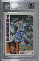 Dave Righetti [BAS Certified Encased by BGS]