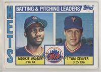 Mookie Wilson, Tom Seaver [EX to NM]