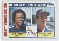Los Angeles Angels Team, Rod Carew, Geoff Zahn