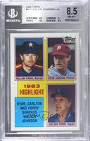 1983 Highlight - Nolan Ryan, Steve Carlton, Gaylord Perry [BGS8.5NM…