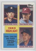 1983 Highlight - Nolan Ryan, Steve Carlton, Gaylord Perry [EXtoNM]