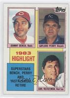 1983 Highlight - Superstars Bench, Perry and Yastrzemski Retire (Johnny Bench, …