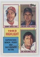 1983 Highlight - Superstars Bench, Perry and Yastrzemski Retire (Johnny Bench, …