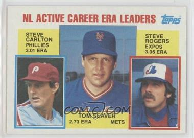 1984 Topps - [Base] #708 - Career Leaders - NL Active Career ERA Leaders (Steve Carlton, Tom Seaver, Steve Rogers)