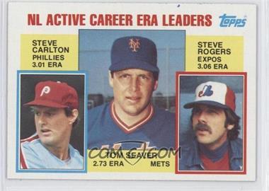 1984 Topps - [Base] #708 - Career Leaders - NL Active Career ERA Leaders (Steve Carlton, Tom Seaver, Steve Rogers)