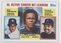 Career Leaders - AL Active Career Hit Leaders (Rod Carew, Reggie Jackson, Bert …