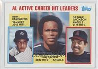 Career Leaders - AL Active Career Hit Leaders (Rod Carew, Reggie Jackson, Bert …