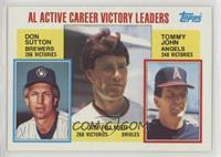 Career Leaders - AL Active Career Victory Leaders (Don Sutton, Jim Palmer, Tomm…