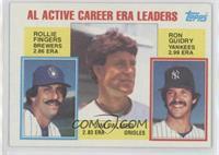 Career Leaders - AL Active Career ERA Leaders (Rollie Fingers, Ron Guidry, Jim …