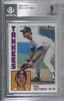 Don Mattingly [BGS 9 MINT]