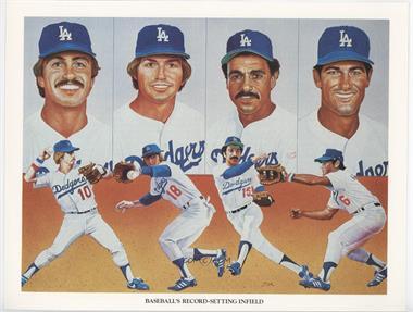 1984 Union 76 Los Angeles Dodgers Lithographs Base Brsi