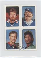 Rick Sutcliffe, Dan Quisenberry, Mike Witt, Rickey Henderson