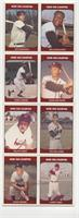 Joe DiMaggio, Willie McCovey, Hank Aaron, Eddie Mathews, Ralph Kiner, Ted Willi…