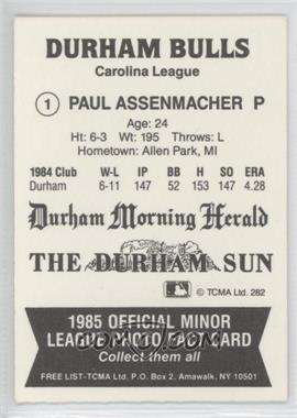 1985 TCMA Minor League #282 - Paul Assenmacher - Courtesy of COMC.com
