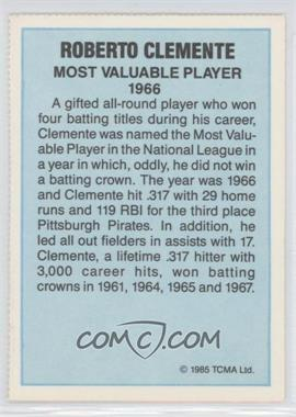 1985 TCMA Most Valuable Player National League #N/A - Roberto Clemente - Courtesy of COMC.com