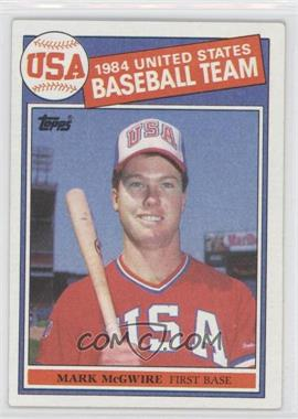1985 Topps - [Base] #401 - Mark McGwire