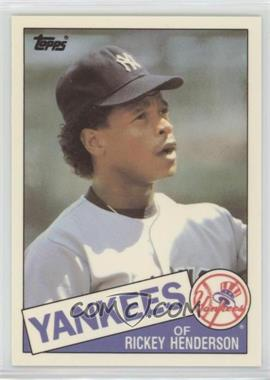 1985 Topps Traded - [Base] - Box Set Collector's Edition (Tiffany) #49T - Rickey Henderson