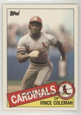1985 Topps Traded - [Base] #24T - Vince Coleman - Courtesy of COMC.com