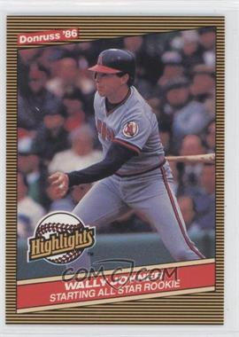 1986 Donruss Highlights - Box Set [Base] #23 - Wally Joyner
